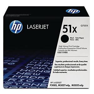 HP 51X High Yield Black Original Laserjet Toner Cartridge (Q7551X)