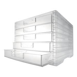 Schubladensystem Styro LightBox, 5 Schubladen, transparent