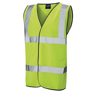 High Visibility Sleeveless 2 Band Waistcoat Yellow Medium