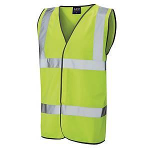 High Visibility Sleeveless 2 Band Waistcoat Yellow Large