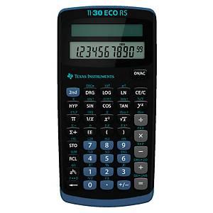 Taschenrechner Texas Instruments TI-30ECO RS, 10-stellig, Solarbetrieb, schwarz