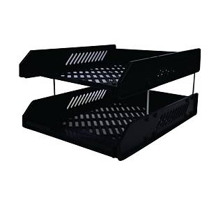 HORSEMAN 2 TIER BLACK PAPER TRAY