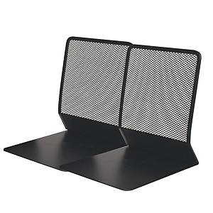 MESH BLACK METAL BOOK END - PACK OF 2
