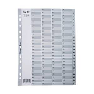 Bantex A4 PP Dividers Index 1-100