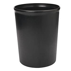 BLACK WASTE BIN 260 X 315MM - 12L CAPACITY