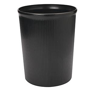 BLACK WASTE BIN 260 X 315MM - 12L CAPACITY