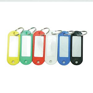 Plastic Key Tag Assorted Colour - Pack of 50