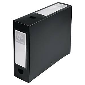 Teczka polipropylenowa EXACOMPTA DocBox 80 mm czarna