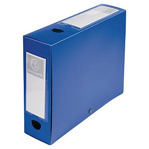Exacompta Opaque Polypropylene A4 Filing Box, 80mm Spine, Blue