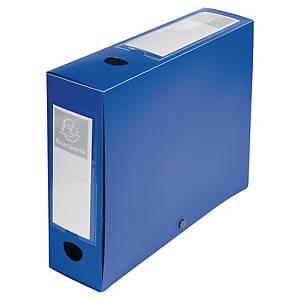 Exacompta Opaque Polypropylene A4 Filing Box, 80mm Spine, Blue