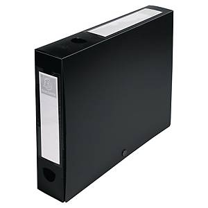 Exacompta Opaque Polypropylene A4 Filing Box, 40mm Spine, Black