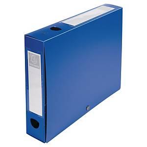Exacompta Opaque Polypropylene A4 Filing Box, 40mm Spine, Blue