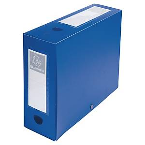 Exacompta filing box PP spine of 10cm blue