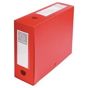 Exacompta filing box PP spine of 10cm red