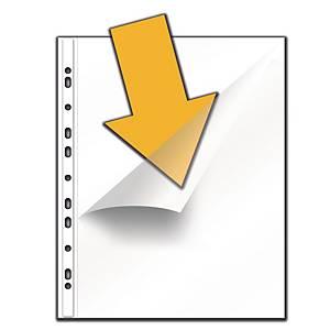 Pochette perforée Lyreco avec ouverture d'angle, A4, PP, les 100 pièces