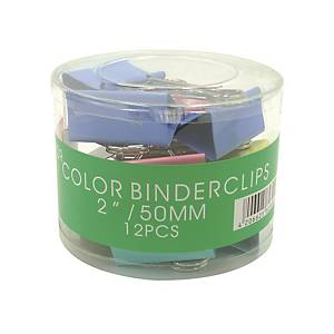 Colour Fold Back Clip 2 inch - Box of 12