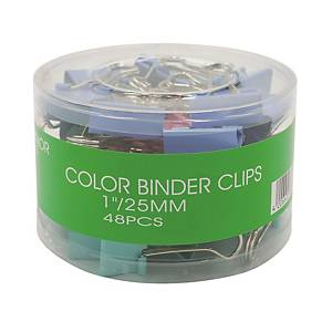 Colour Fold Back Clip 1 inch - Box of 48