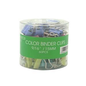 彩色回尾夾 0.5吋 - 每盒60個