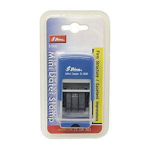 Shiny S-300 Self-Inking Dater Stamp Blue 3mm