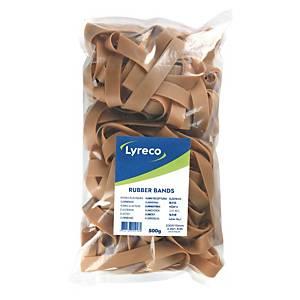 Elastikker Lyreco, 230 x 15 mm, pakke a 500 g