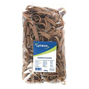 Lyreco elastieken, 8 x 125 mm, zak van 500 gr