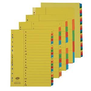 Bantex Cardboard 1-12 Index File Dividers - Pack of 1 Set