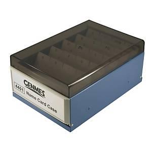 Genmes 名片盒 藍色 (可存放400張名片)