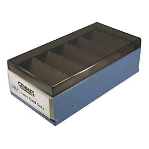 Genmes 名片盒 藍色 (可存放600張名片)