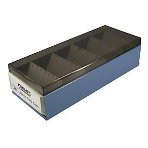 Genmes 名片盒 藍色 (可存放800張名片)