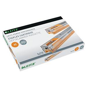LEITZ K8 CASSETTE STAPLES - PACK OF 5 X 210 STAPLES