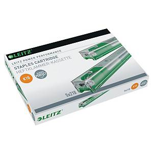 LEITZ K10 CASSETTE STAPLES - PACK OF 5 X 210 STAPLES
