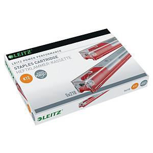 LEITZ K12 CASSETTE STAPLES - PACK OF 5 X 210 STAPLES