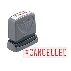 Xstamper VX Self Inking Cancelled Stamp Red