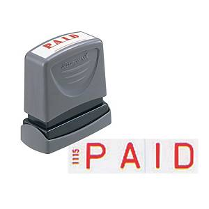 XStamper VX Self Inking Paid Stamp Red
