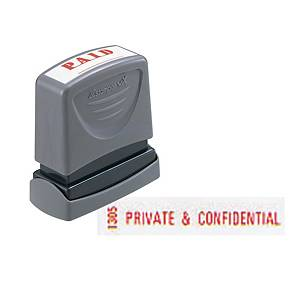 XStamper VX Self Inking Private And Confidential Stamp Red