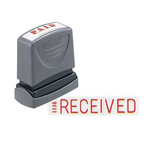 XStamper VX Self Inking Received Stamp Red