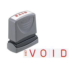 XStamper VX Self Inking Void Stamp Red