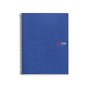 Caderno espiral Miquelrius Notebook 6 - A4 - 150 folhas - quadriculado