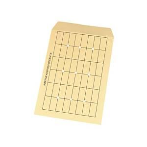 Enveloppen voor interne post, crèmekleurig, 120 g, 262 x 371 mm, per 50 omslagen