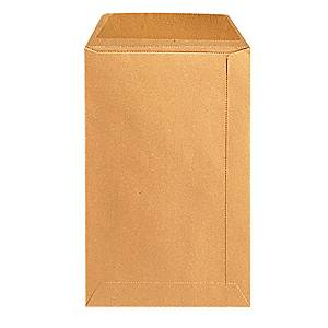 Bags 240x340mm gummed 90g brown - box of 250