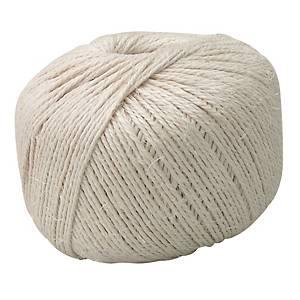 Corde en sisal, 3 fils, L 400 m, épaisseur 3 mm, la boule de corde