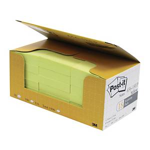 Post-it 報事貼 656-18EP 便條紙經濟裝 黃色 2吋 x 3吋 - 18本裝