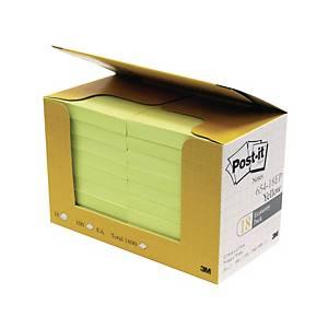 Post-it 報事貼 654-18EP 便條紙經濟裝 黃色 3吋 x 3吋 - 18本裝