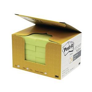 Post-it 報事貼 653-24EP 便條紙經濟裝 黃色 1-3/8吋 x 1-7/8吋 - 24本裝