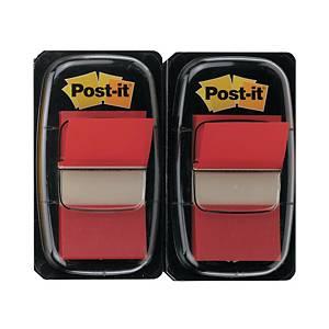 Post-it Index 680, 25,4x43,2 mm, 50 Blatt, rot, Packung à 2 Stück