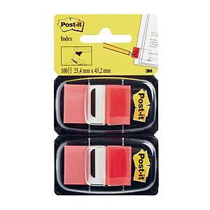Zakładki indeksujące Post-it® czerwone, w opakowaniu 100 zakładek
