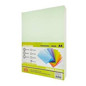 SB COLOURED COPY PAPER A4 80G - GREEN - REAM OF 500 SHEETS