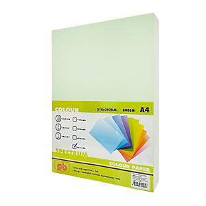 SB กระดาษสีถ่ายเอกสาร NO.5 A4 80 แกรม เขียว 1 รีม บรรจุ 500 แผ่น