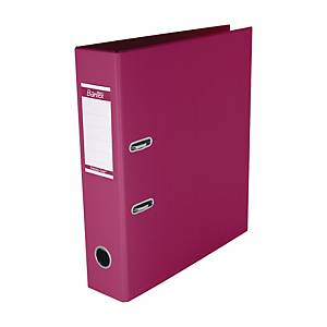 Bantex PVC Lever Arch File A4 3 inch Pink