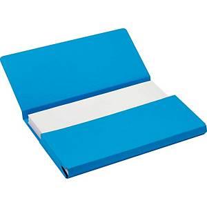 Jalema Secolor chemises pocket Folio carton 270g bleu - paquet de 50